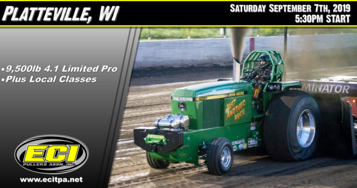 ECIPA Event: Platteville Dairy Days Tractor Pull 2019