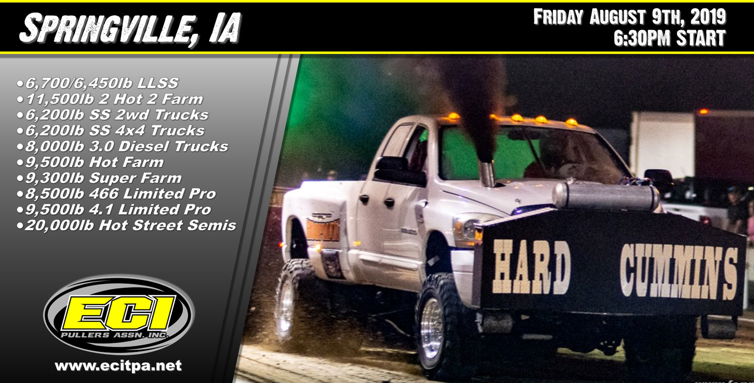 ECIPA Event: Springville Truck Tractor Pull